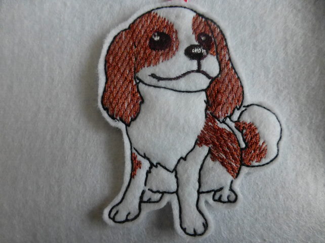 Cavalier King Charles Spaniel  christmas decoration tag