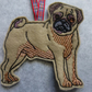 christmas tree decoration tag Pug