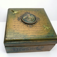 Mermaid Treasures Secret Garden Altered Art Trinket Box