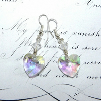 Ice Queen Heart Of Glass Earrings