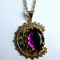 Under A Purple Moon Gold Pendant SALE Now half price