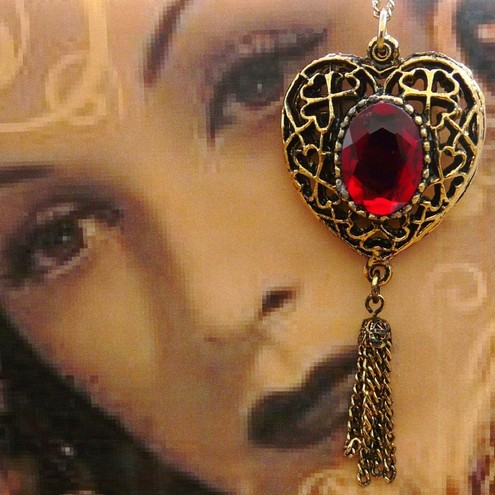 Be Still My Beating Heart Victorian Vintage Styled Pendant
