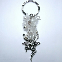 Winter Wonderland Sparkly Fairy Bag Charm Keyring