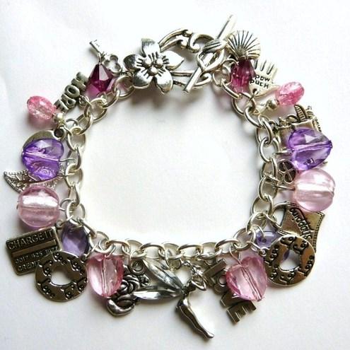 The 'Shopaholic' & Fairy Charm Bracelet - One of a kind!