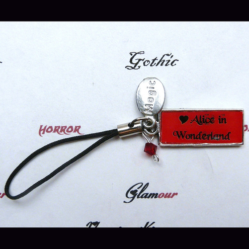 Alice In Wonderland Red Magic Mobile Phone Charm