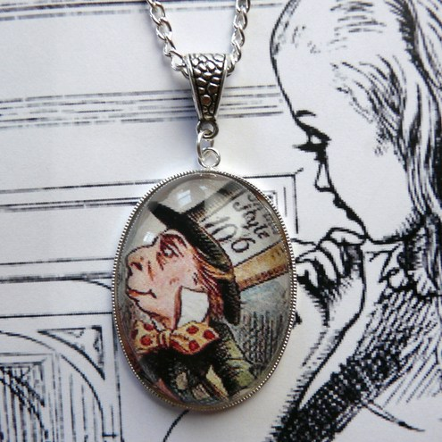 Mad Hatter Large Bubble Pendant ~ Alice In Wonderland
