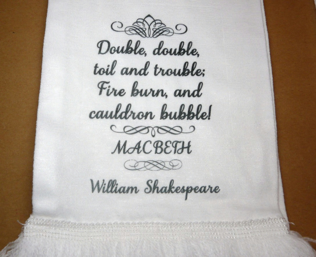 """Double The Trouble Quotes: Macbeth """"Double, Double, Toil & Troubl..."""