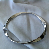 Sterling Silver 'Sea Shimmer' Bangle  Hallmarked