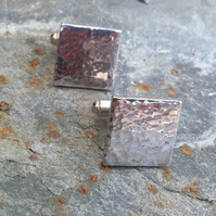 Sterling Silver Sea Shimmer Cuff Links
