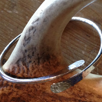 Wave Bangle. Hallmarked.