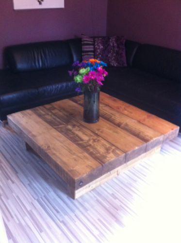 Chunky Solid Wood Large Coffee Table Caveman Furniture