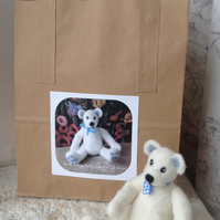Needle felted jointed Teddy Bear 12-15cm tall