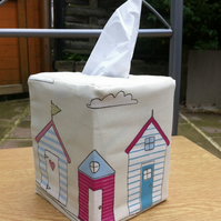 Tissue Box Cover Fryettes Fabric Beach Huts