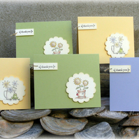 Set of 5 thank you cards
