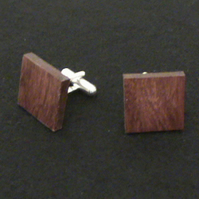 Square Cuff Link in Purpleheart