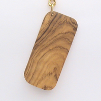 Key Ring in Wild Olive Wood