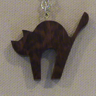 Cat Pendant in Snakewood