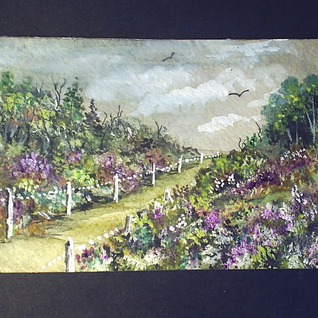 Art painting aceo original paintings landscape POST FREE