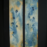 set of TWO hand painted fantasy bookmarks ref 467