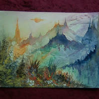 original watercolour art painting fantasy (ref 864)