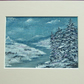 winter snow acrylic original art painting ref 520