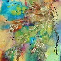 art painting mixed media impressionist floral (ref 902)