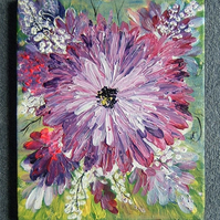 Art painting acrylic flower canvas (ref 819)
