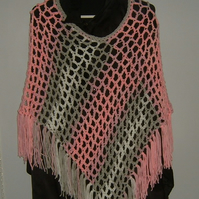Lightweight crocheted lady's poncho ref CR87