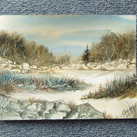 art landscape painting watercolour original (ref 900)