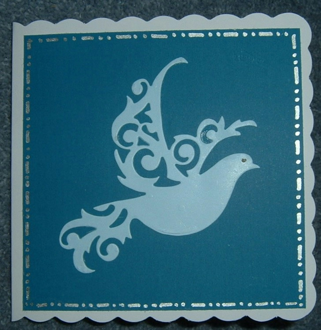 Dove of Peace greetings card (ref 758)