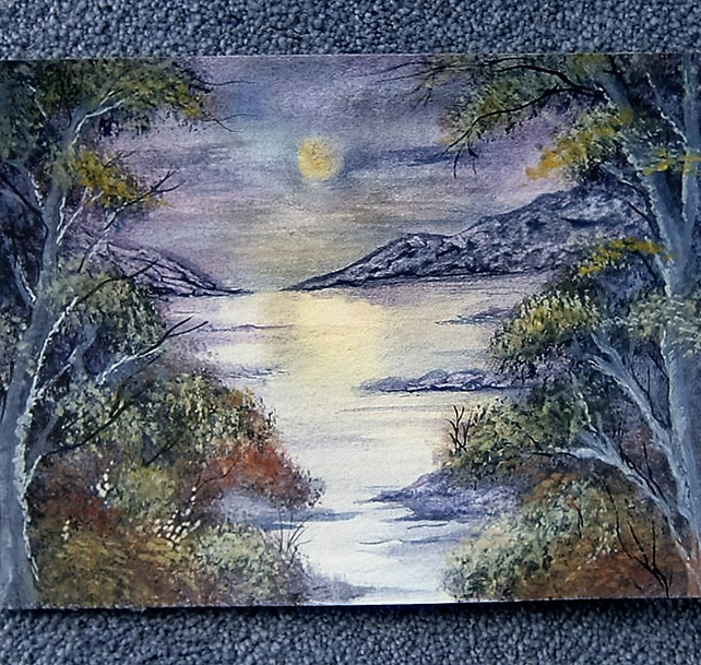 "watercolour art painting landscape 8x6"" (ref 812)"