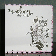 Fairy fantasy greetings card (ref 069)