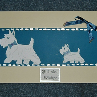 Scottie dog Westie Birthday card (ref 083)