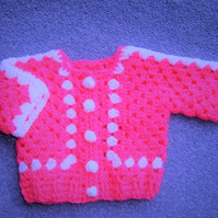 SALE Baby Girl's crochet cardigan (ref 098)