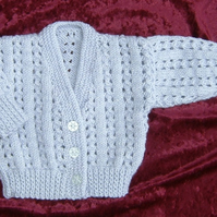SALE lilac and silver baby cardigan (ref 101)