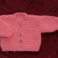 Baby girl's knitted cardigan (ref 124)