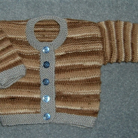 SA:E Hand knitted baby cardigan (ref 136)