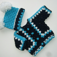 New Baby cardigan and hat set (ref 158)