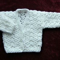 white lacy baby cardigan (ref 16378)