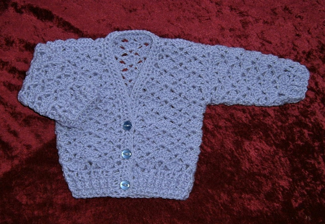 lacy baby cardigan (ref 16784)