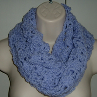 Mauve Lilac infinity scarf (ref 180102)