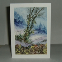 Original art hand painted greetings card (ref 186)