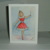 hand painted greetings card (ref 193)