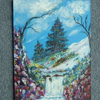 art acrylic painting 9x12 original (ref 842)