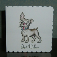 all occasions greetings card cartoon dog (ref 871)