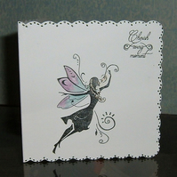"fantasy fairy ""Cherish every moment"" greetings card (ref 888)"