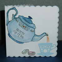 tea time all occasion greetings card (ref 903)