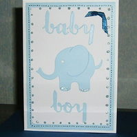 New Baby Boy greetings card. (ref 921)