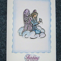 Angel greetings card (ref 927)