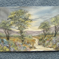 watercolour landscape art painting original (ref 932)